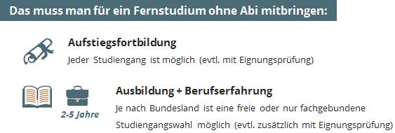 Innenarchitektur Ohne Abitur fernstudium ohne abitur voraussetzungen studiengänge