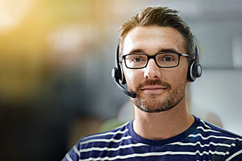 IT-Manager mit Headset